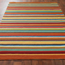 Orange Outdoor Rug by Colorful Stripe Hooked Indoor Outdoor Rug Shades Of Light