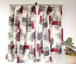 vintage 1950s curtains barkcloth atomic luncheonettevintage