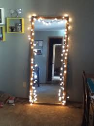 hang christmas lights up on your mirror in your room my room