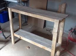 Hall Table Plans Best Diy Pallet Sofa Table Plans For Small Home Interior Ideas