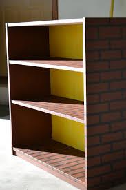 walmart wood shelves mario brick bookshelf cheap bookshelf from walmart sanded