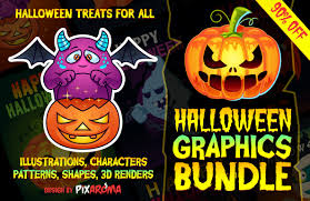halloween downloads pixaroma halloween graphics bundle 90 discount on behance