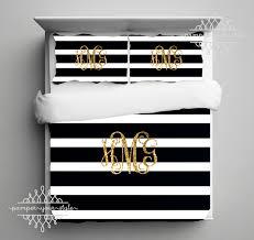 Black And White Comforter Full Gold Monogram Bedding Black And White Stripe Dorm Comforter