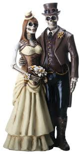 amazon com love never dies steampunk skeleton wedding couple