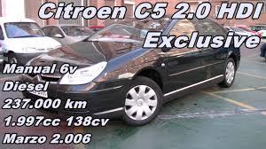 citroen c5 2 0 hdi exclusive vehiculo de ocasion usado en madrid