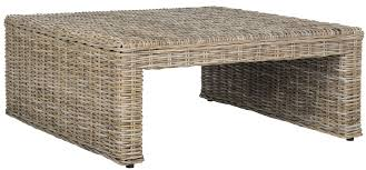 Wicker Accent Table Sea7030a Coffee Tables Furniture By Safavieh