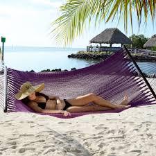 large plum purple soft spun polyester caribbean hammock