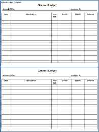 printable accounting ledger general ledger sheet template double