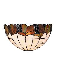 Wall Scone Tiffany Style Grape U0026 Leaves Pattern Semi Circle Shade Wall Sconce