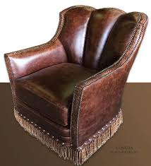 grade genuine leather club style chair