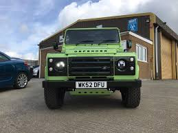 green land rover defender used 2002 land rover defender hard top td5 for sale in cornwall