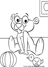 pink panther baby coloring book printablefree printable coloring