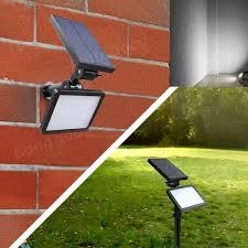 solar powered 48 led light outdoor path wall landscape home garden