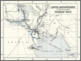 World War One Map by Iraq Mandate