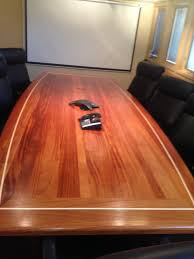 Oak Boardroom Table African Mahogany Wood Conference Tables Custom Made