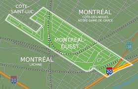 Map Of Montreal File Montreal West Map Svg Wikimedia Commons