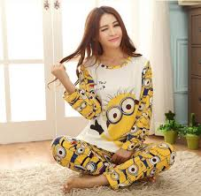 16 years big despicable me pajamas 100 cotton pajamas sleep