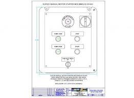 duplex manual motor starter w start stop controls pump motor