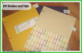 diy how to make binder dividers with pockets and tabs diy