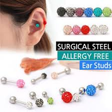 ear studs qoo10 allergy free earrings surgical steel singapore ear studs