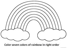 rainbow coloring page printable cecilymae