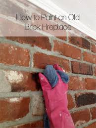 tutorial how to paint a brick fireplace brick fireplace brick