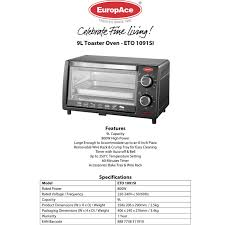 Toaster Ovens Rated Eto 1091s Toaster Oven 9l