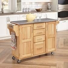 charlton home jordan kitchen island cart with natural wood top