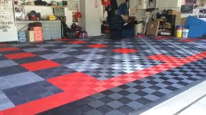 G Floor Roll Out Garage Flooring by Bruce U0027s Black Red Graphite And Alloy Ribbed Garage Floor