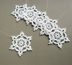 6 crochet snowflake ornaments large snowflake by caitlinsainio
