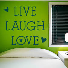 mini hearts u0027live laugh love u0027 wall sticker by wall art