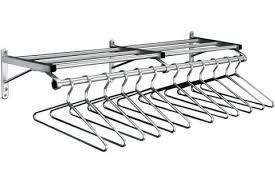 value line wall mounted coat racks with shelf u0026 hangers by glaro