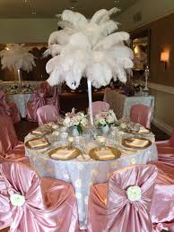 Ostrich Feather Centerpiece Flower And Event Decor Ostrich Feather Centerpieces Pink And