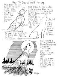 how to draw a wolf howling at the moon worksheet notes at the