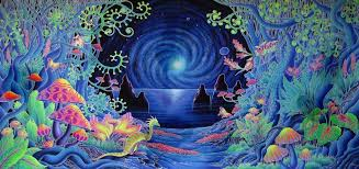 Trippy Room Decor Psychedelic Trippy Art Fabric Poster 28