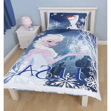 Frozen Bed Set Attractive Bedroom With Blue Wall Decor And Blue Curtain