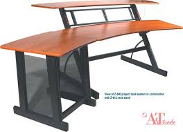 2 level computer desk quik lok z600 2 level project desk system w 8 space rack holders and