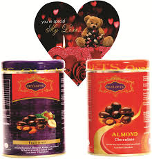 skylofts coated nuts tin packs with valentines love heart