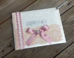Shabby Chic Wedding Guest Book by Pink Guest Book Etsy