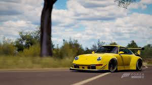 rwb porsche yellow forza horizon 3 porsche car pack review ar12gaming