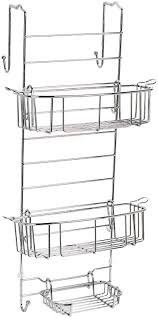 amazon com zenna home 7803ss over the shower door caddy chrome