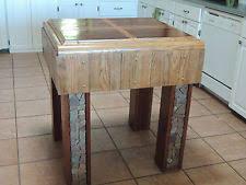 butcher block table ebay