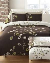 new brown u0026 lime green reversible bedding double duvet cover bed