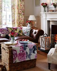 an autumn colour palette helps create a cosy look at home