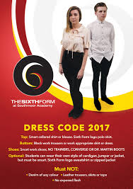 dress code the sixth form