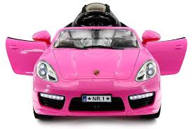 pink porsche convertible amazon com kiddie roadster 12v battery power 2 motors kids ride