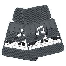 Music Note Decor Keyboard And Notes Car Floor Mats At The Music Stand