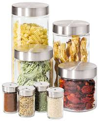 oggi kitchen canisters oggi canisters spice jars glass 8 set kitchen gadgets