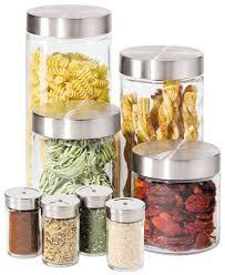 glass canister set for kitchen oggi canisters spice jars glass 8 set kitchen gadgets