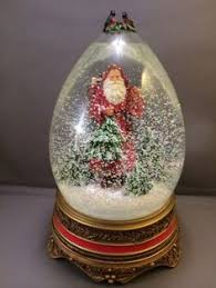 vintage father christmas santa claus snow globe by pastclassics